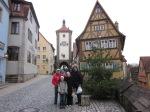 My family at the famous Plönlein inRothenburg