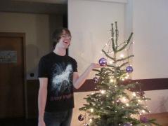 Gavin's first xmas tree